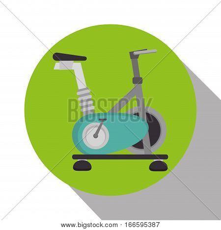 spinning bike machine isolated icon vector illustration design