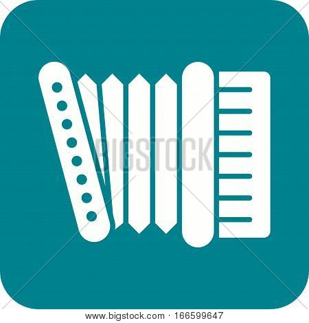 Accordion music icon vector image. Can also be used for oktoberfest. Suitable for web apps, mobile apps and print media.