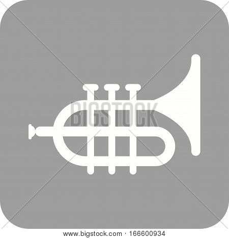 Tuba, saxophone, music icon vector image. Can also be used for oktoberfest. Suitable for mobile apps, web apps and print media.