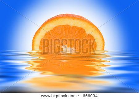 Orange Over White