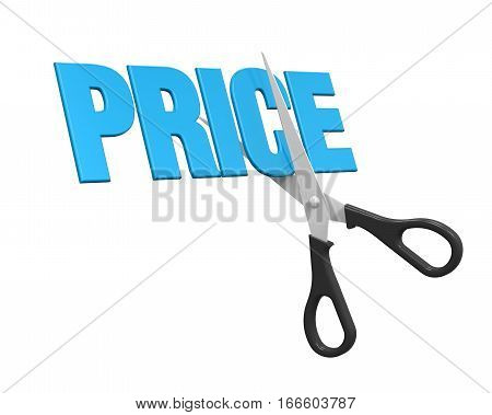 Price Cuts Concept isolated on white background. 3D render