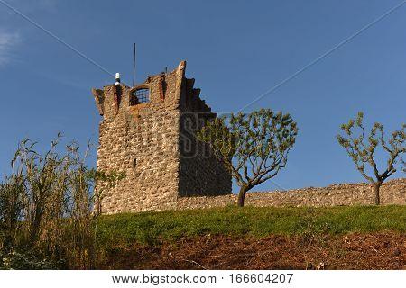 Ourem Beiras region Portugal sunset building tower