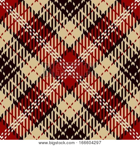 Tartan Seamless Pattern Background. Red White Black and Camel Beige Plaid Tartan Flannel Shirt Patterns. Trendy Tiles Vector Illustration for Wallpapers.