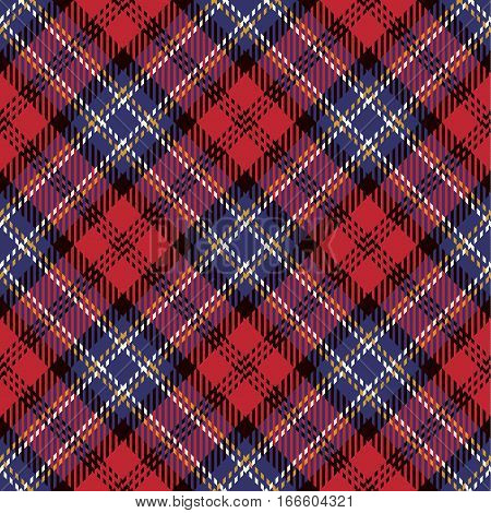 Tartan Seamless Pattern Background. Purple White Black Gold and Red Plaid Tartan Flannel Shirt Patterns. Trendy Tiles Vector Illustration for Wallpapers.