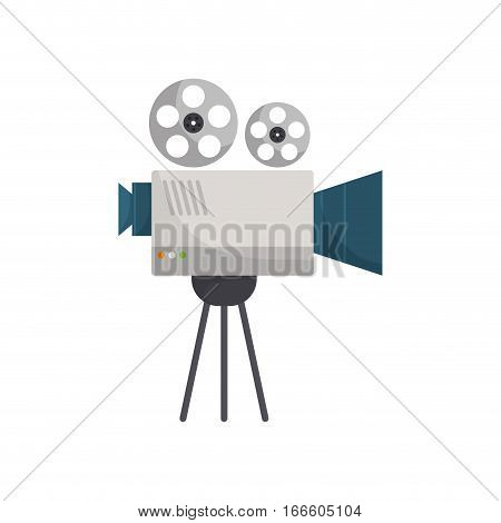Cinema camcorder technology icon vector illustration graphic design