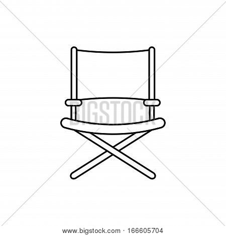 Directors chair isolated icon vector illustration graphic design