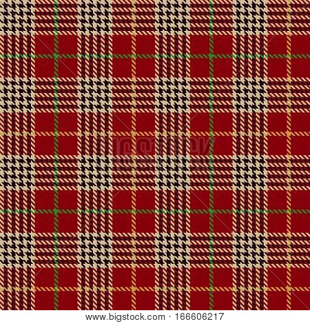 Tartan Seamless Pattern Background. Red Black Green Gold and Camel Beige Plaid Tartan Flannel Shirt Patterns. Trendy Tiles Vector Illustration for Wallpapers.