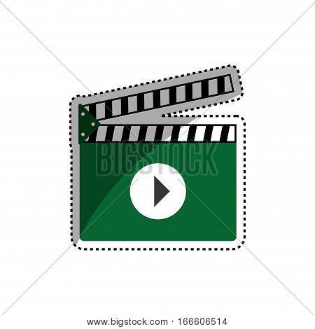 Cinema clapboard isolated icon vector illustration graphic design