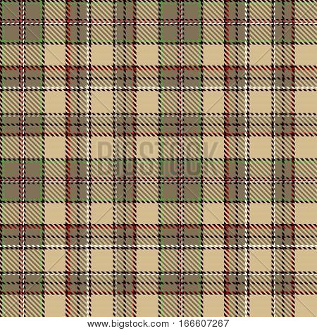 Tartan Seamless Pattern Background. Red Black Green Brown and Camel Beige Plaid Tartan Flannel Shirt Patterns. Trendy Tiles Vector Illustration for Wallpapers.