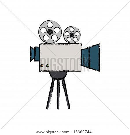 Cinema camcorder technology icon vector illustration graphic design
