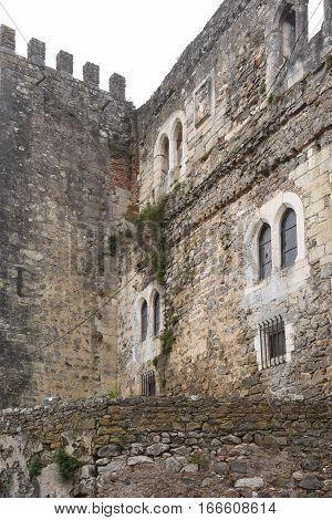 Remains of the Castle of Leiria Beiras region Portugal