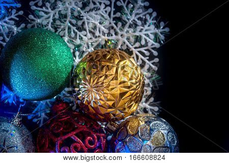 2017 happy new year concept - cristmas ball