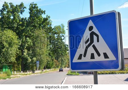 Crosswalk road sign. Pedestrian Signs Pedestrian Crossing Signs Pedestrian Crosswalk.