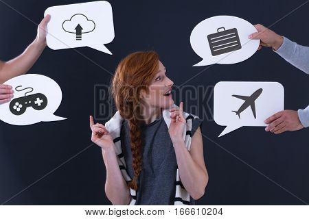 Speech Bubbles With Popular Icons