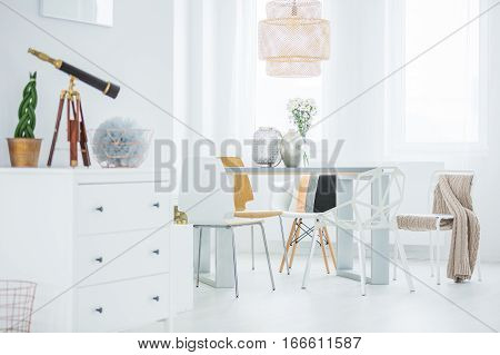 Functional Flat With Dining Table