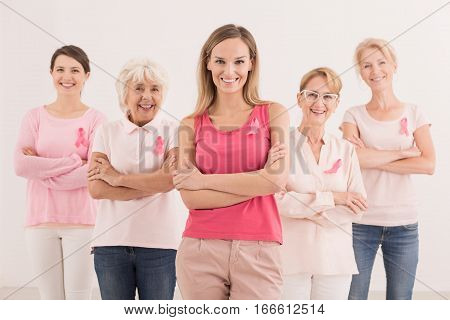 Women With Pink Ribbons