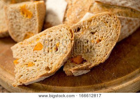 Slices Of Freshly Baked Carrot Bread