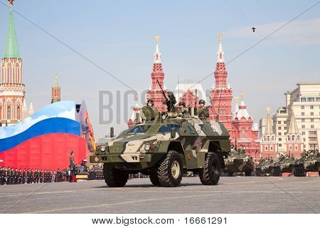 """MOSCOW - MAY 9: """"Dozor"""" reconnaissance and patrol vehicle . Military Parade on 65th anniversary of Victory in Great Patriotic War on May 9, 2010 on Red Square in Moscow, Russia"""