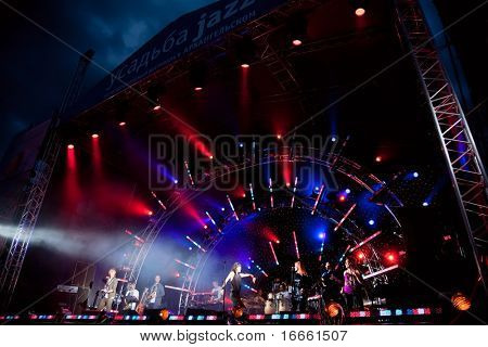 ARKHANGELSKOE - JUNE 6: Big Beat Jam Band. 7th International Jazz Festival
