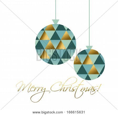 concept xmas bulbs toy vector illustration. elegant abstract geometry pattern. elegant bolls mosaic icon