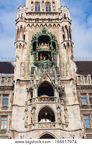 Munich Marienplatz New Town Hall Germany Europe