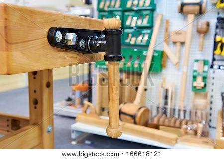 The workbench on a background of tools