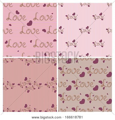 Valentine's day floral vector seamless.  Design element for wallpapers, web site backgrounds, wedding invitation, birthday or Valentines Day card, fabric print. Eps10