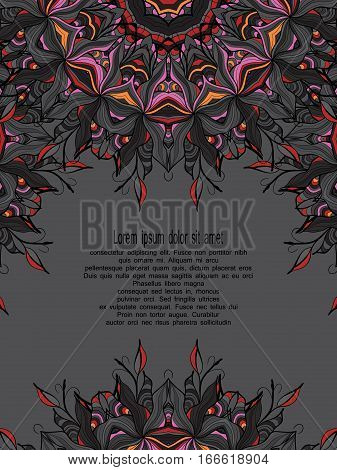 Vector hand drawn floral background. Pattern for design, brochures, wrapping. Eps10