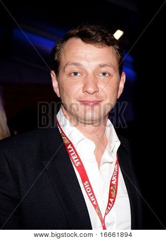 MOSCOW - JUNE 17: Russian actor Marat Basharov. Afterparty Opening ceremony of 32st Moscow International Film Festival on June 17, 2010 in Moscow, Russia