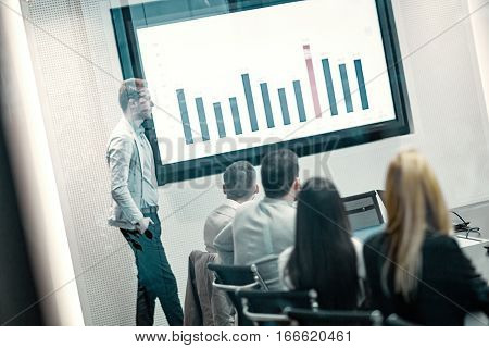 Enterpreneurs and business people conference in modern meeting room