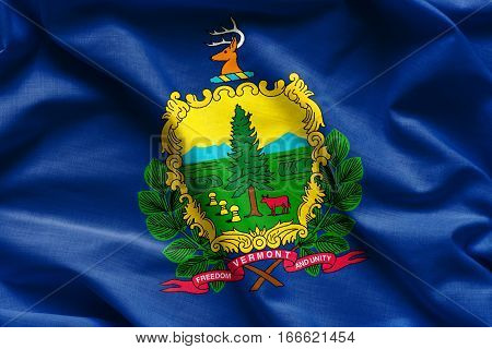Flags of the U.S. states: Waving Fabric Flag of Vermont