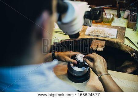 Professional Jeweler Working