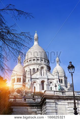 The Basilica of Sacre-Coeur Montmartre. Paris .