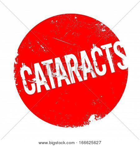 Cataracts rubber stamp. Grunge design with dust scratches. Effects can be easily removed for a clean, crisp look. Color is easily changed.
