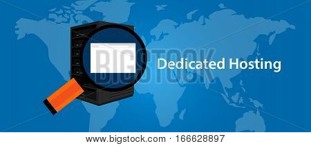 dedicated server web hosting services infrasctructure technology vector