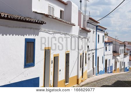 Streets of the town of Redondo Alentejo Region Portugal