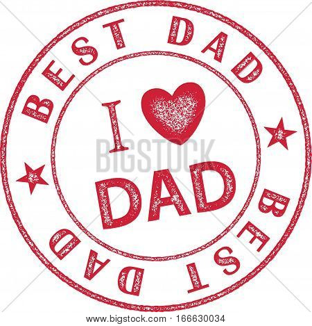 Best Dad Stamp themed for Father's Day