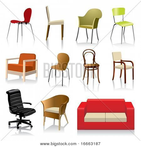 Vector Various Chairs