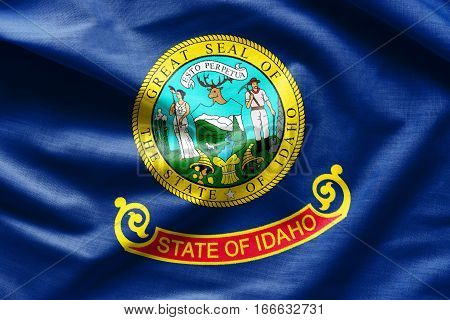Flags of the U.S. states: Waving Fabric Flag of Idaho
