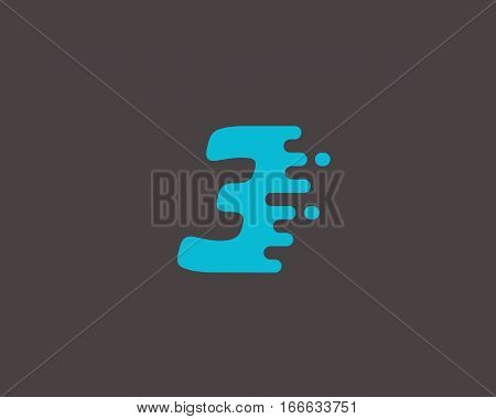 Abstract number 1 logo design template. Dynamic vector unusual digit icon. Universal fast speed fire moving water numeral logotype.