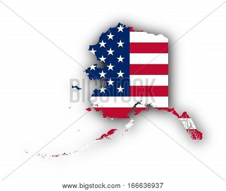 Map And Flag Of Alaska