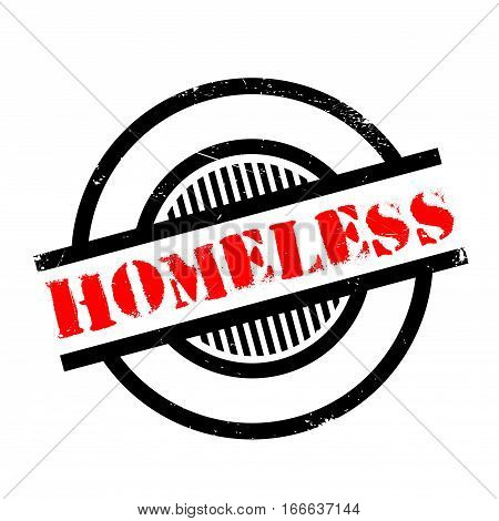Homeless rubber stamp. Grunge design with dust scratches. Effects can be easily removed for a clean, crisp look. Color is easily changed.