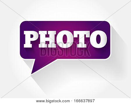 Photo Text Message Bubble