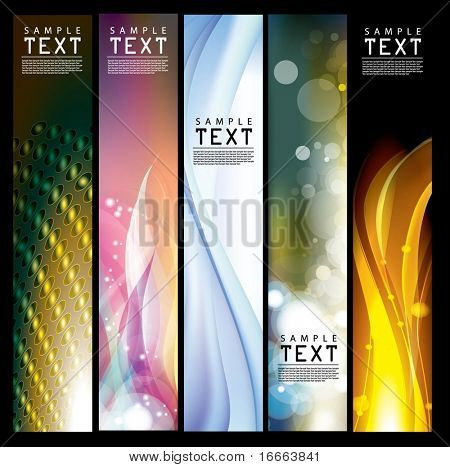 Vector Vertical Banner
