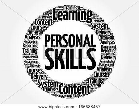 Personal Skills Circle Word Cloud