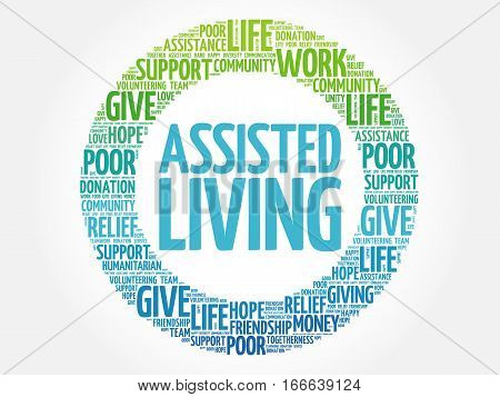 Assisted Living Word Cloud Collage