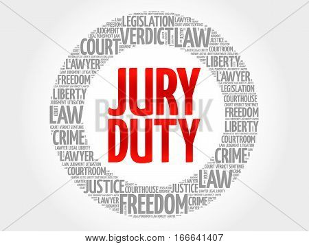 Jury Duty word cloud , social concept background