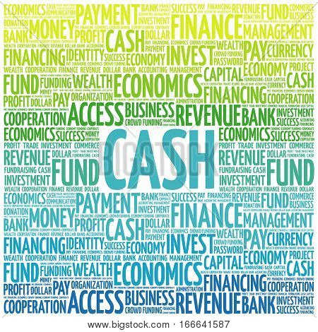 Cash Word Cloud Collage