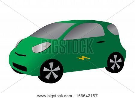 Compact Car Green