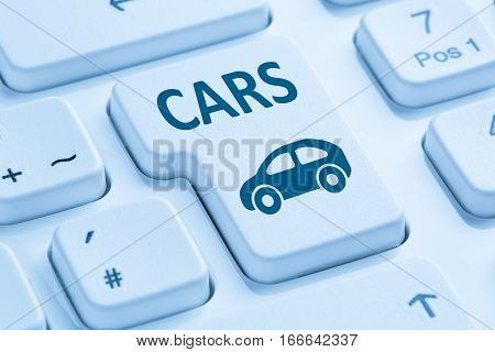 Selling Buying Car Cars Online Button Blue Computer Keyboard